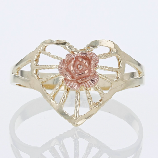 Heart Rose Ring