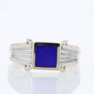 14 Karat Lapis Inlay Ring