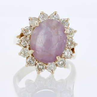 Star Ruby & Diamonds Ring