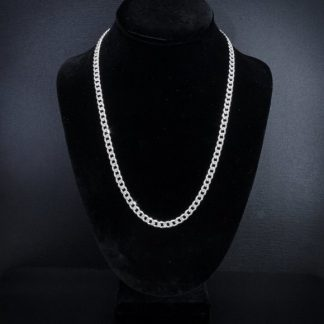 "Sterling Silver Cuban Link 22"" Chain"
