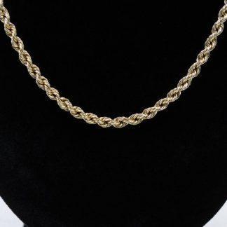 """10 Karat Rope Chain 23"""""""