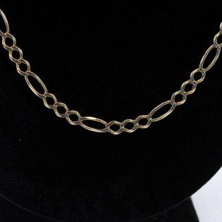 """14 Karat Figaro 24.5"""" Chain"""