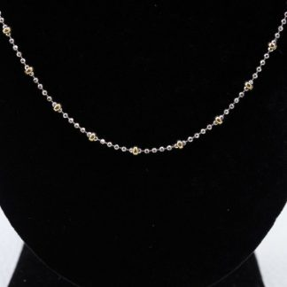 18K Beaded Necklace 20""