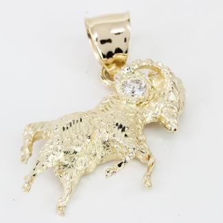 14k Gold Ram Pendant