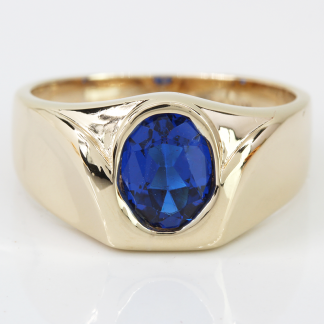 10K Blue Stone Ring