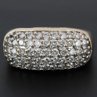 14 Karat Diamond Gold Band
