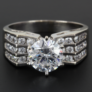 14K Gold Cubic Zirconia Cocktail Ring