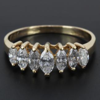 14K Gold 1 Carat Marquise Diamond Ring