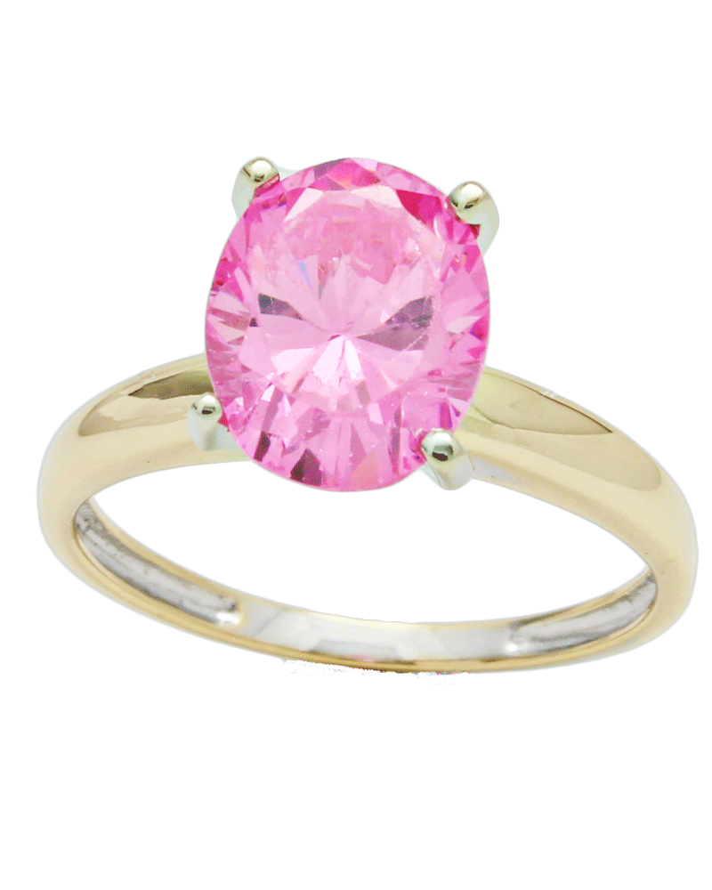 Pink Stone Solitaire - A&V Pawn